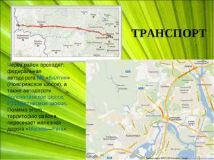 Через район проходят: федеральная автодорогаМ9«Балтия» (Новорижское шоссе),