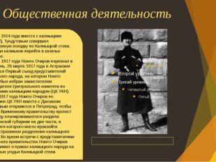 Общественная деятельность Данза́н Давидович Тунду́тов Осенью 1914 года вместе