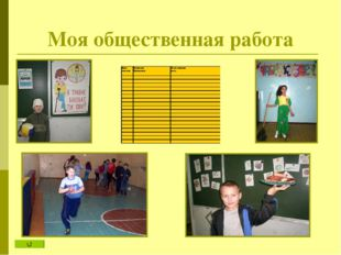 Моя общественная работа Я и школьные праздники