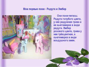 Мои первые пони - Радуга и Эмбер Они пони-пегасы. Радуга голубого цвета, у не