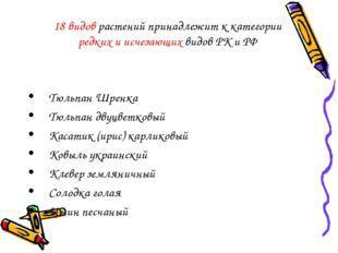 Тюльпан Шренка Тюльпан двуцветковый Касатик (ирис) карликовый Ковыль украинск