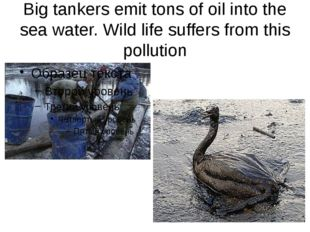 Big tankers emit tons of oil into the sea water. Wild life suffers from this