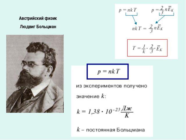 Австрийский физик Людвиг Больцман