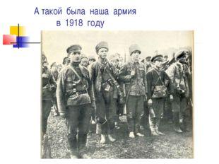 А такой была наша армия в 1918 году