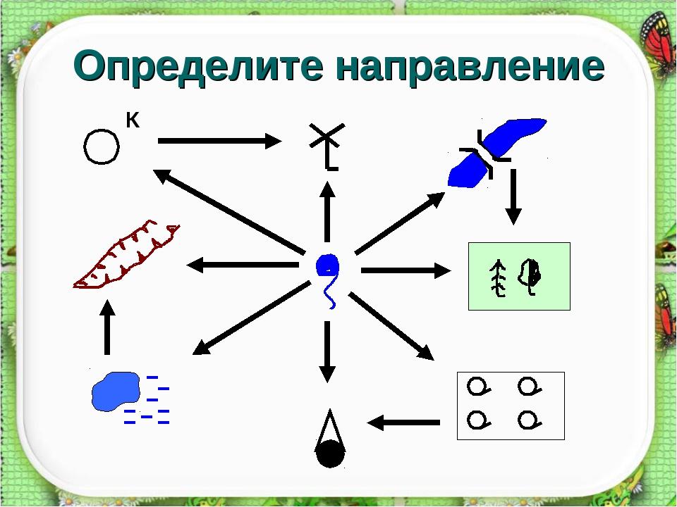 Определите направление К
