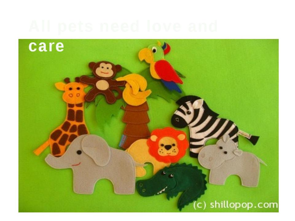 Поделки животных из ткани