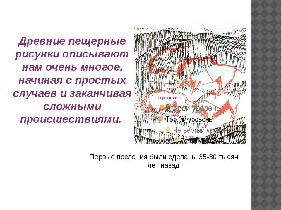 Древние пещерные рисунки описывают нам очень многое, начиная с простых случае...