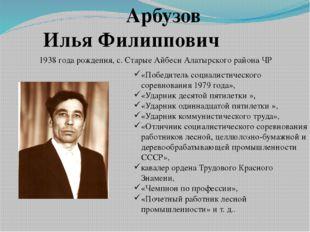 Арбузов Илья Филиппович «Победитель социалистического соревнования 1979 года