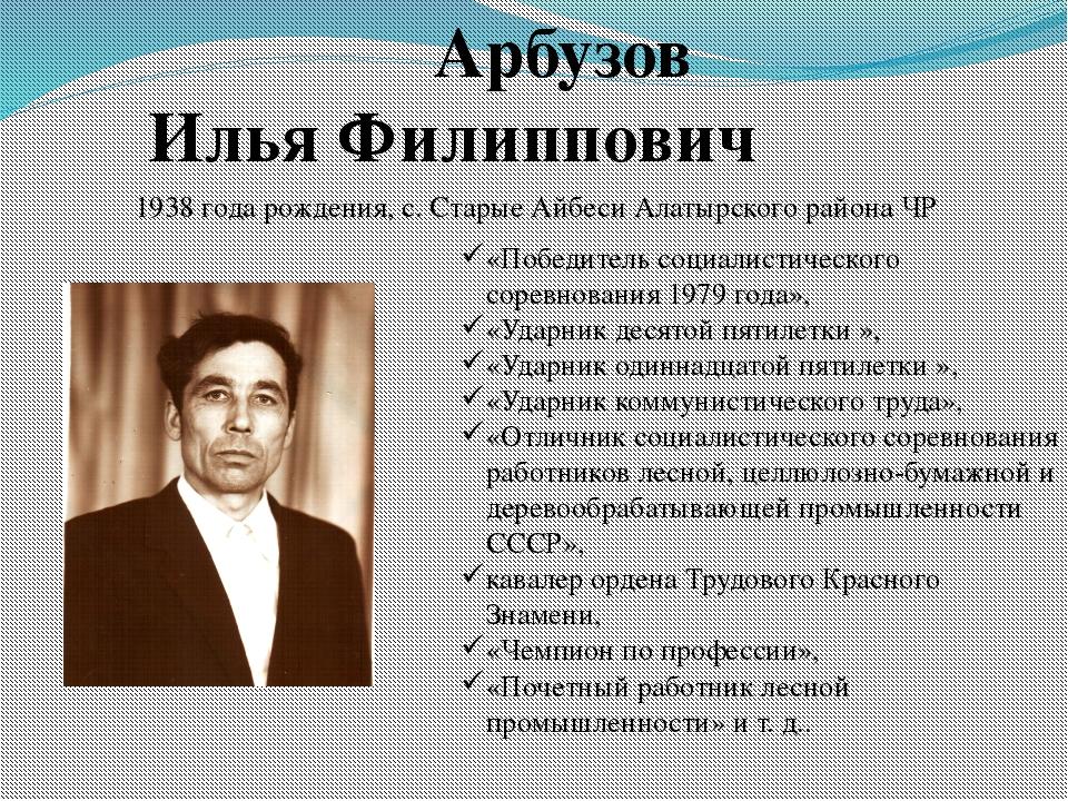 Арбузов Илья Филиппович «Победитель социалистического соревнования 1979 года...