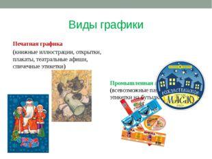 Виды графики Печатная графика (книжные иллюстрации, открытки, плакаты, театра