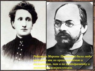 Родители Марины Цветаевой были люди несхожие как по происхождению и воспитани