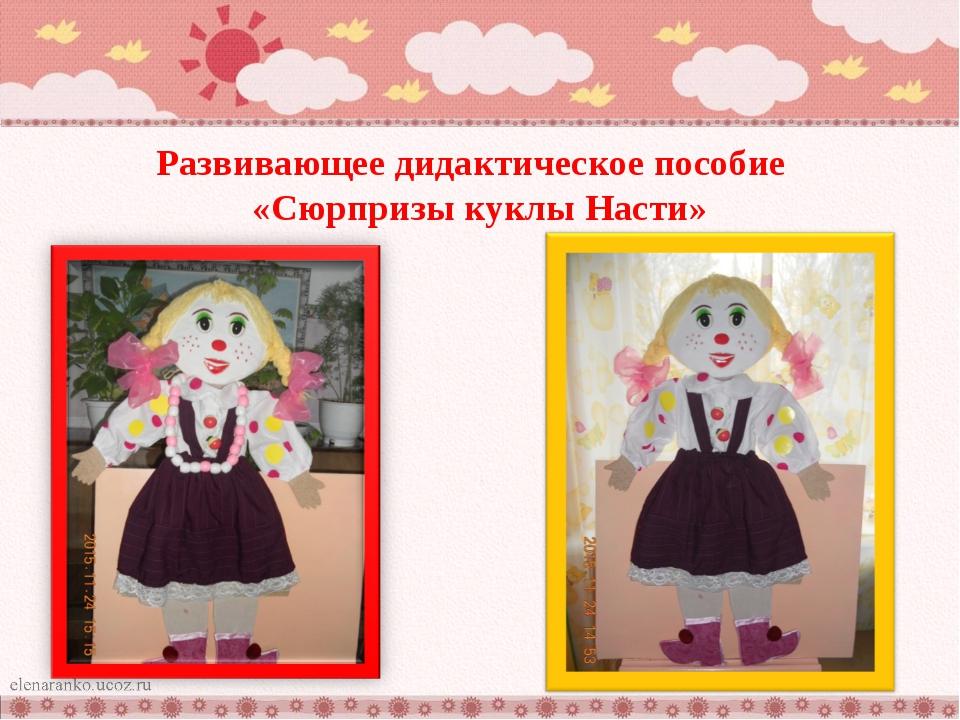 Развивающее дидактическое пособие «Сюрпризы куклы Насти»