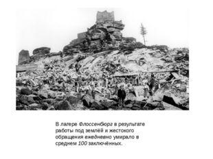 В лагере Флоссенбюрг в результате работы под землёй и жестокого обращения еже