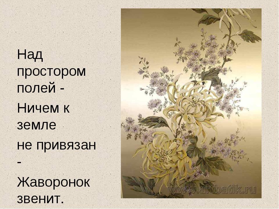 Над простором полей - Ничем к земле не привязан - Жаворонок звенит.