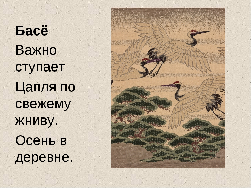 Басё Важно ступает Цапля по свежему жниву. Осень в деревне.