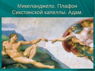 Микеланджело. Плафон Сикстинской капеллы. Адам.