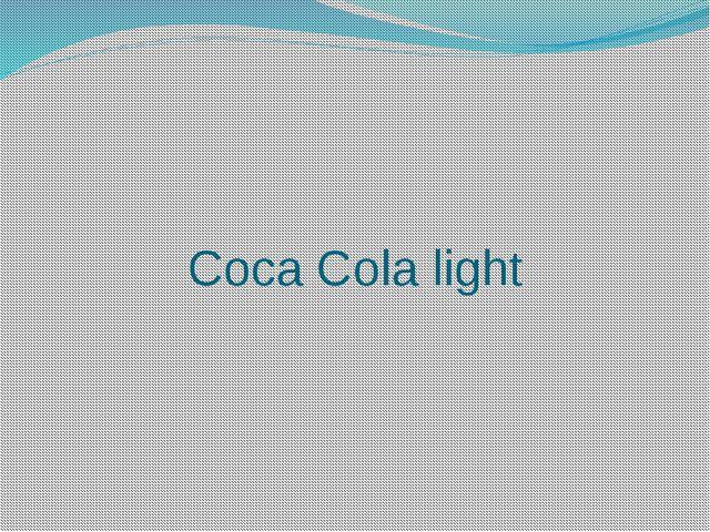 Coca Cola light