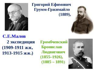 С.Е.Малов 2 экспедиция (1909-1911 жж, 1913-1915 жж.) Григорий Ефимович Грумм