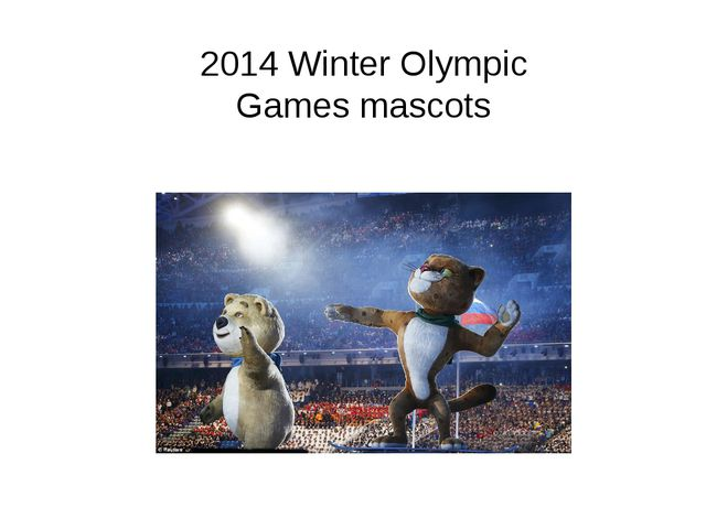 2014 Winter Olympic Games mascots