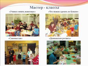 «Учимся лепить животных» «Что можно сделать из бумаги» «Самомассаж» «Дымковск