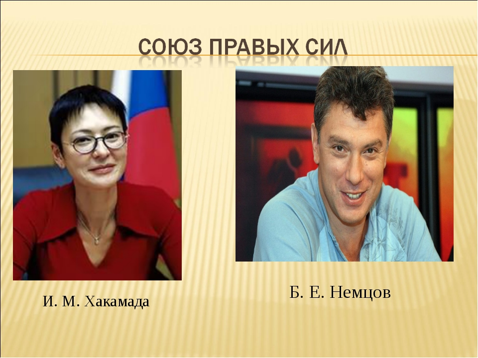 И. М. Хакамада Б. Е. Немцов