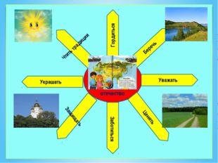 Отечествоотот отечество Гордиться Беречь Уважать Ценить Чтить традиции Украш