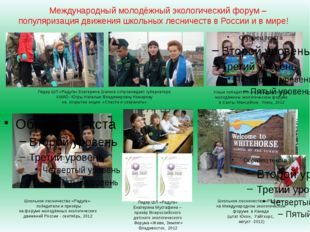 Международный молодёжный экологический форум – популяризация движения школьны