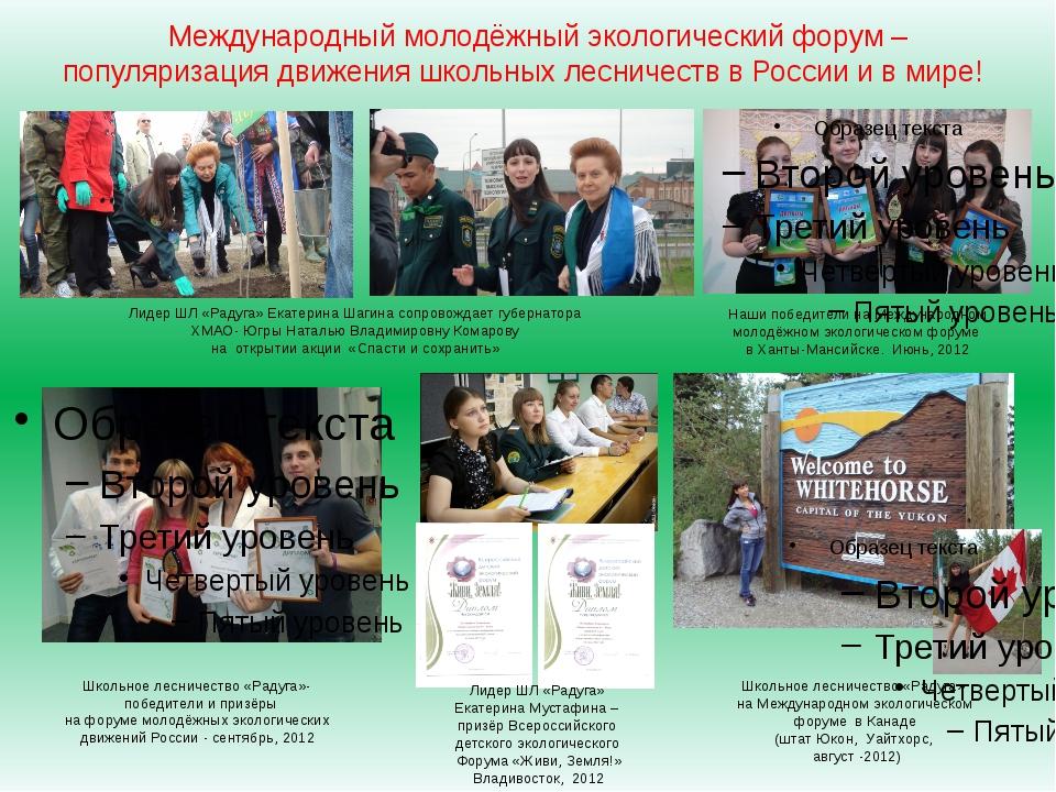 Международный молодёжный экологический форум – популяризация движения школьны...