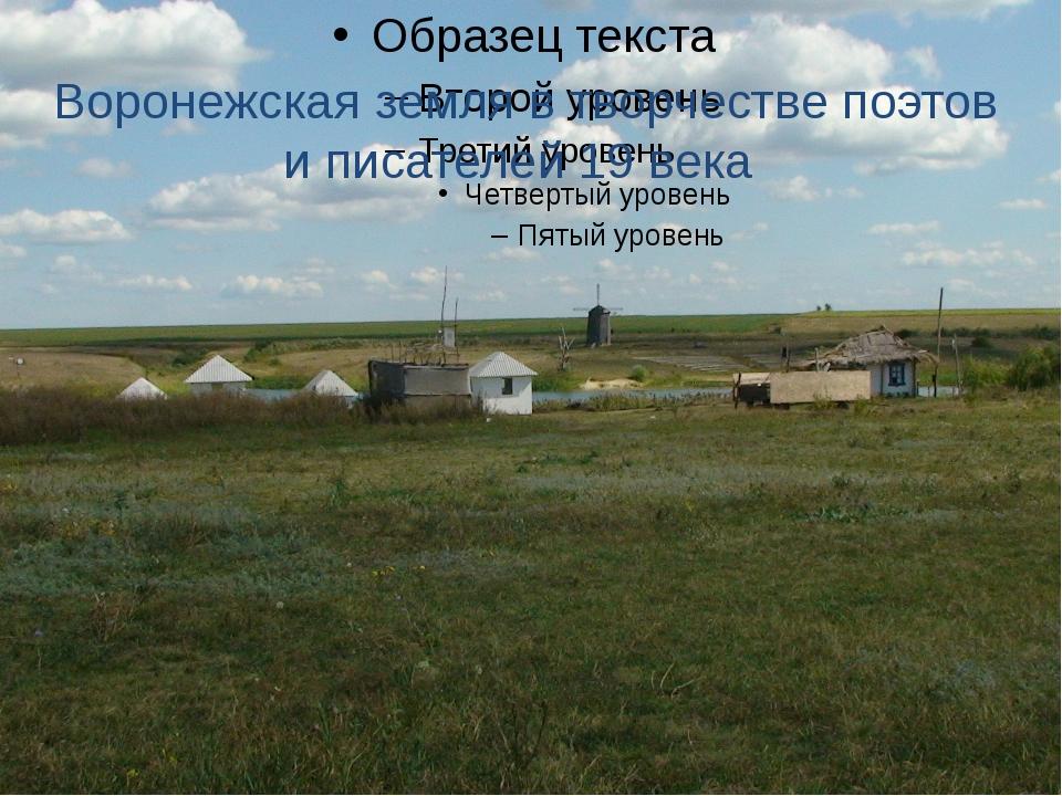 Воронежская земля в творчестве поэтов и писателей 19 века