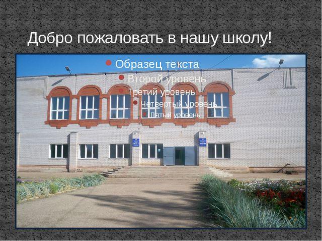 Добро пожаловать в нашу школу!