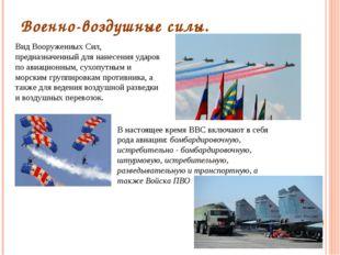 Военно-воздушные силы. Вид Вооруженных Сил, предназначенный для нанесения уда