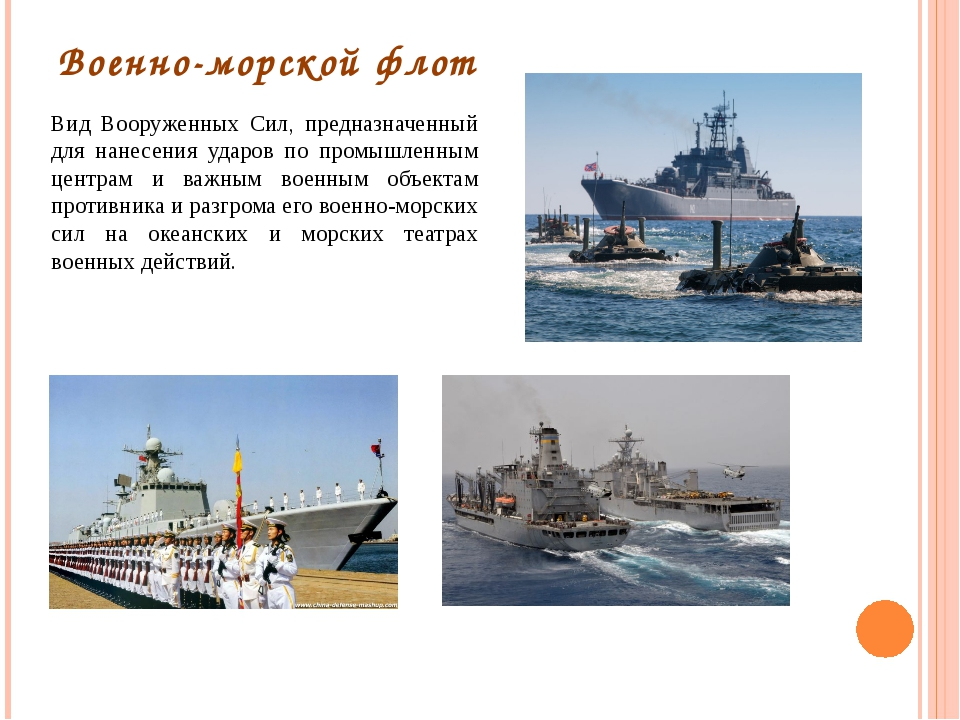 Военно-морской флот Вид Вооруженных Сил, предназначенный для нанесения ударов...