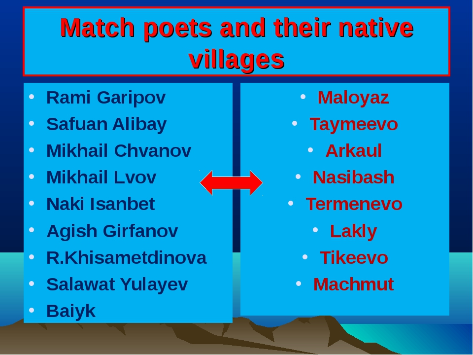 Match poets and their native villages Rami Garipov Safuan Alibay Mikhail Chva...