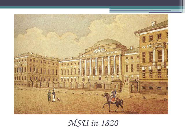 MSU in 1820