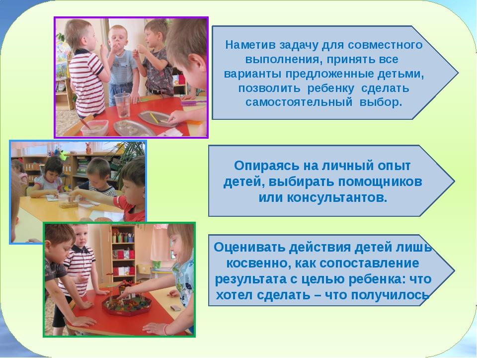 Наметив задачу для совместного выполнения, принять все варианты предложенны...