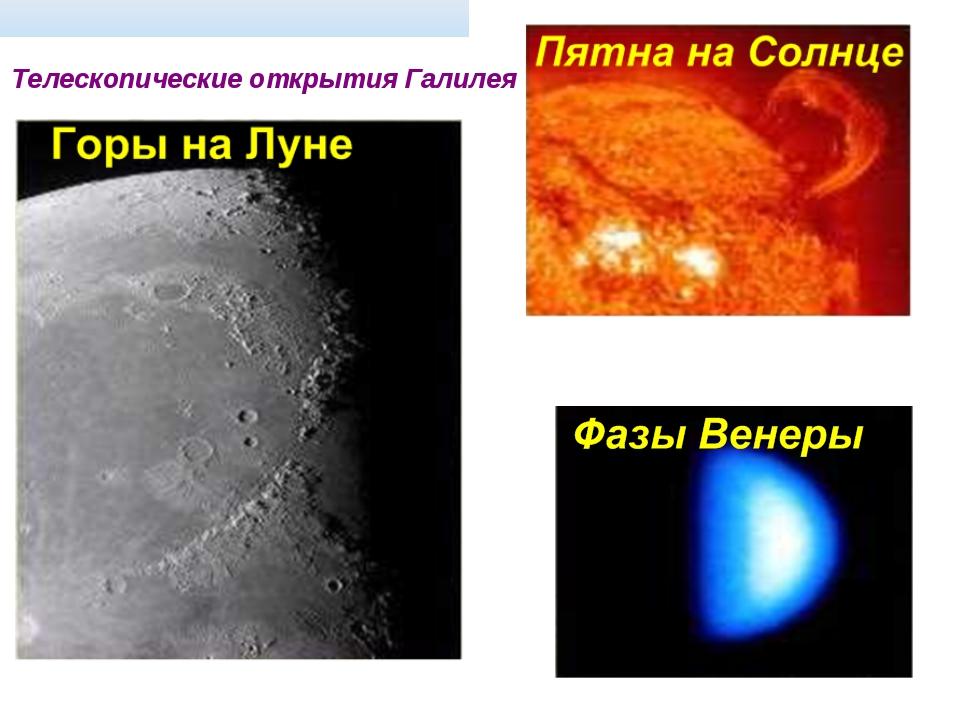 Телескопические открытия Галилея