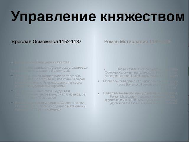 Ярослав Осмомысл 1152-1187 Возвышение Галицкого княжества. Успешно защищал о...