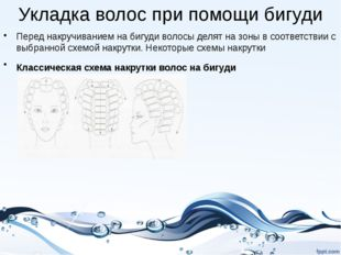 Укладка волос при помощи бигуди Перед накручиванием на бигуди волосы делят на
