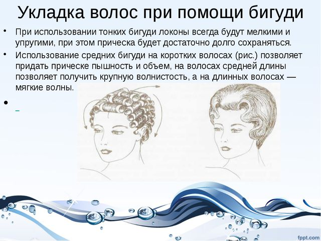 Укладка волос при помощи бигуди При использовании тонких бигуди локоны всегда...
