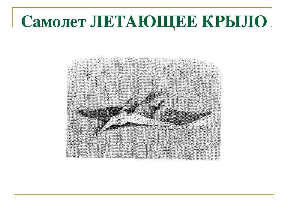Самолет ЛЕТАЮЩЕЕ КРЫЛО