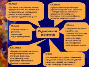 Педагогическая технология М.В. Кларин «Системная совокупность и порядок функц
