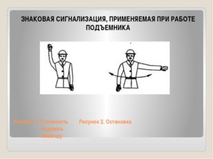 Рисунок 1. Готовность Рисунок 2. Остановка подавать команду ЗНАКОВАЯ СИГНАЛИЗ