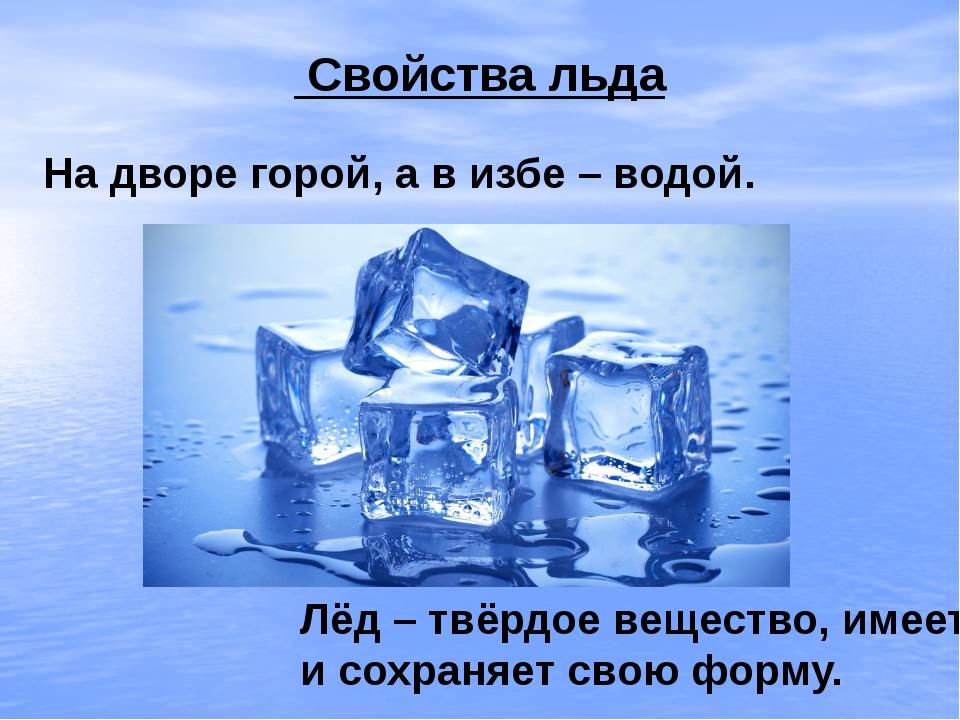 Картинки на тему вода и лед