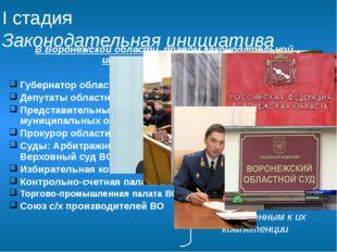 В Воронежской области правом законодательной инициативы обладают: Губернатор