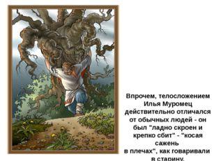 Впрочем, телосложением Илья Муромец действительно отличался от обычных людей