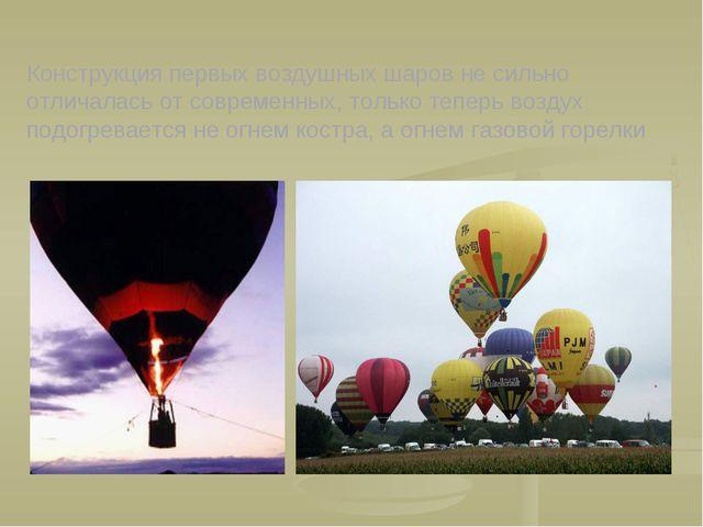 Конструкция первых воздушных шаров не сильно отличалась от современных, тольк...
