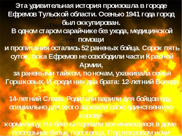 Эта удивительная история произошла в городе Ефремов Тульской области. Осенью...