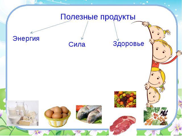 Полезные продукты Энергия Сила Здоровье