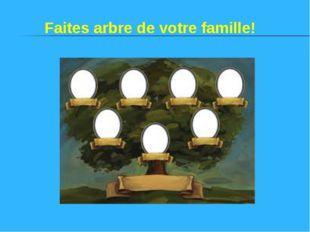 Faites arbre de votre famille!