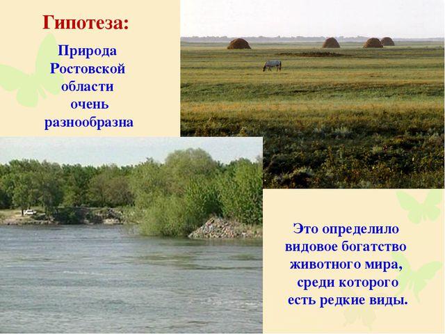 Природа Ростовской области очень разнообразна Это определило видовое богатств...